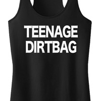 Teenage Dirtbag tank top Rock Band tank BLACK womens