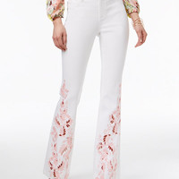 INC International Concepts Embroidered Curvy Flare-Leg Jeans, Created for Macy's - Jeans - Women - Macy's