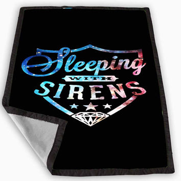 Sleeping With Sirens Logo Galaxy Nebula Design Blanket for Kids Blanket, Fleece Blanket Cute and Awesome Blanket for your bedding, Blanket fleece *