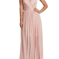 Dress the Population Chloe Lace & Chiffon Gown | Nordstrom