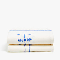 LINEN BLANKET WITH EMBROIDERED DETAIL - BLANKETS - BEDROOM | Zara Home United States of America