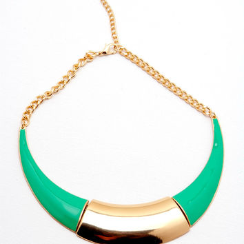 Stingray Necklace - Green/Gold