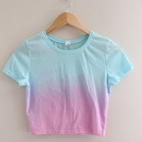 Cotton Candy Ombre Crop Top