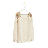SWEATER WITH ETHNIC SHOULDER PADS - Cardigans and sweaters - Girl - Kids   ZARA United States