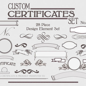Certificate Template Set - Instant Download - Customize Personalize - Award Template - DIY Printable Graphic Design Kit - No1