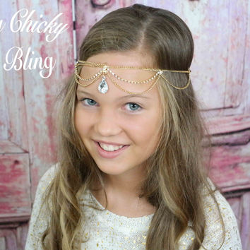 Egyptian Cleopatra Teardrop Headband