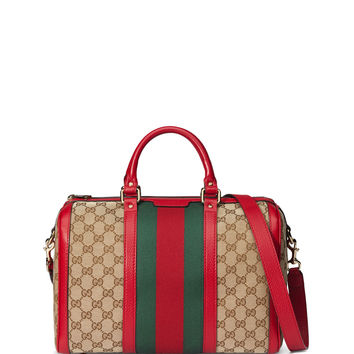 Vintage Web Original GG Canvas Boston Bag, Multi - Gucci