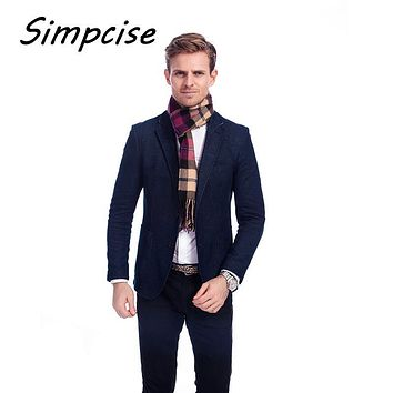 [Simpcise] Plaid men scarf winter fashion scarves scarf soft warm Pashimina cashmere Tartan scarves A3A17523