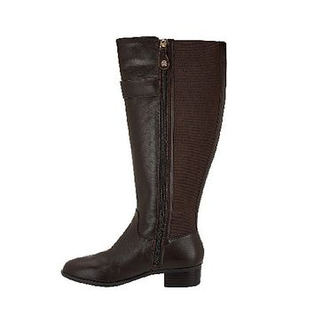 Isaac Mizrahi Live! Wide Calf Leather Women's Boot