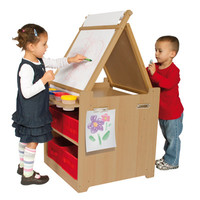 Guidecraft Desk to Easel Art Cart - G51089