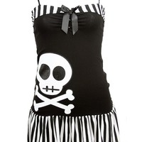 "Women's ""Miss Mandy Skull"" Dress by Jessica Louise (Black)"