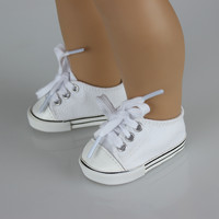 "Fashon White Shoes For 18 "" American Girl Doll 45cm Doll"