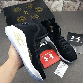 Under Armour Curry 4 ¡°Black¡± Basketball Shoes