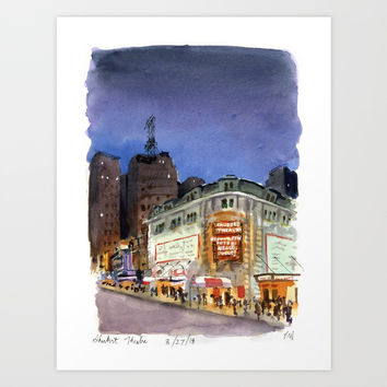 Shubert Theatre Hello Dolly Marquee Art Print by ramblingsketcher