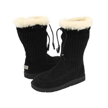 Ugg Boots Black Friday Knit Suburb Crochet 5124 Black For Women 93 17