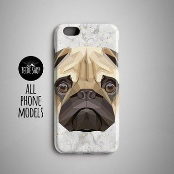 iPhone Geometric Pug iPhone 8 Plus 7  5S  6S  7 Plus Case - Free Shipping