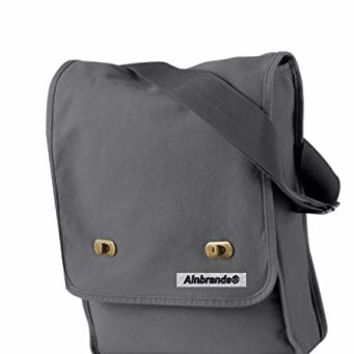 14 oz. Pigment-Dyed Canvas Field Bag by ALNBRANDS (Smoke) (grey)
