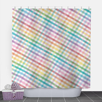 Shop Rainbow Colored Shower Curtains on Wanelo