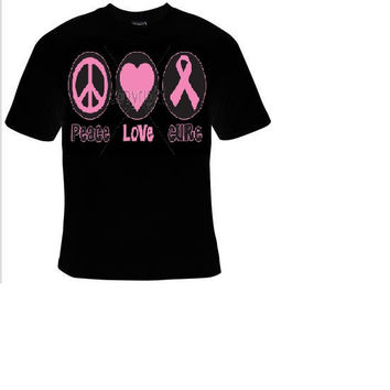 peace love cure t shirt great cute gift tshirts