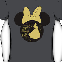 Minnie Mouse Belle Beauty and the Beast silhouette Women's T-Shirt