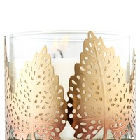 3-Wick Candle Sleeve Gold Leaves