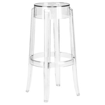 Burton Ghost Bar Stool in Clear