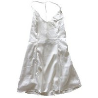 Ivory T Strap Back Satin Dress