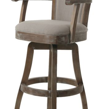 Impacterra Glen Swivel Stool Height Natural Distressed Tty