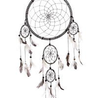 Black and White Dreamcatcher 21.5x65cm