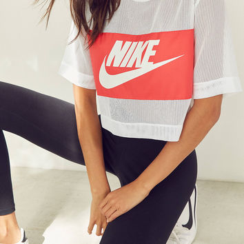 Nike Mesh Cropped Tee | Urban Outfitters