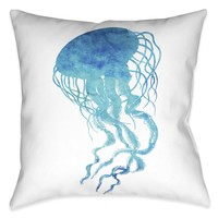 Watercolor Jellyfish Indoor Decorative Pillow