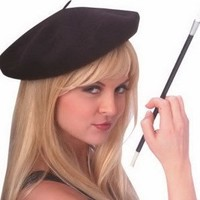Trendy Knit French Costume Beret (cigarette holder sold separately)