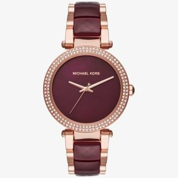 Parker Rose Gold-Tone and Acetate Watch | Michael Kors