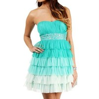 Zoe-Green Short Prom Dress