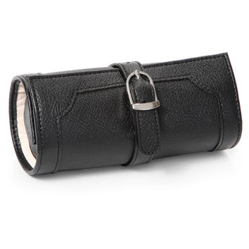 Morelle Olivia Belted Black Leatherette Jewelry Roll | Overstock.com Shopping - The Best Deals on Jewelry Rolls