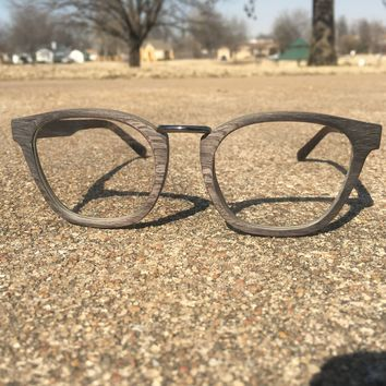 Grey Oak Prescription Frames