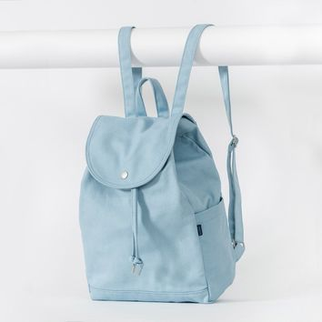 BAGGU Drawstring Backpack Washed Blue