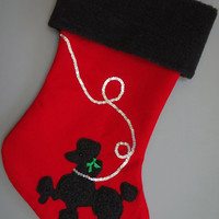 "Poodle ""Skirt"" Christmas Stocking"
