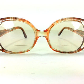 Vintage oversized Glasses Tortoise shell and sliver frame Reading librarian glasses
