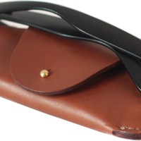 MEKU Handmade Leather Eyeglass Case Sunglass Holder