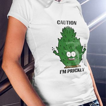 Gift For Girlfriend - I'M PRICKLY TEE: Cactus T-shirt, Funny Shirt, Cute, Girl Clothes, Boyfriend Gift/Girlfriend Gift - Great GIFT!