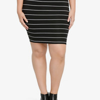 Striped Fold Over Skirt