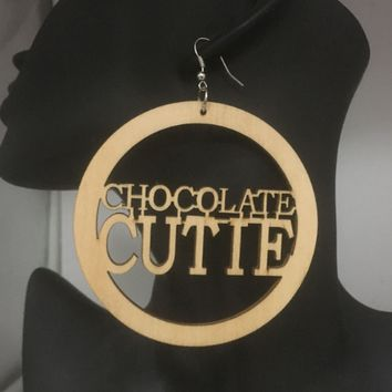Chocolate Cutie Natural Hair Earrings | Afrocentric Jewelry & Accessories