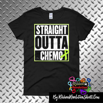 Lymphoma Straight Outta Chemo Shirts (Black, Sports Grey and White)