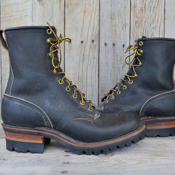 Vintage Dead Stock Chippewa Motorcycle Work Boots size 7.5