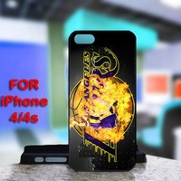 Los Angels Lakers Kobe Bryant For IPhone 4 or 4S Black Case Cover
