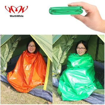 WorthWhile Emergency Blanket Outdoor Camping Hiking Waterproof Thermal Rescue Shelter Foldable Military Survival