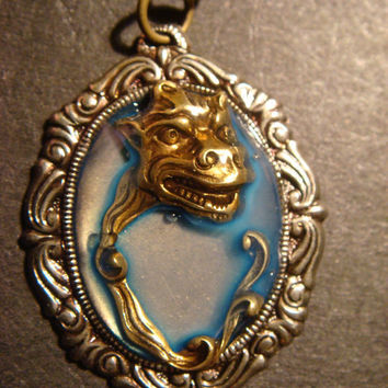Steampunk Dragon Creature Necklace - One of a Kind