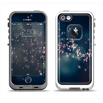 The Dark & Glowing Sparks Apple iPhone 5-5s LifeProof Fre Case Skin Set