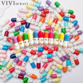 50pcs/set Cute Capsule Mini Paper Message Pvc Letter Storage Bottles Pill Wish Bottle Small Box Creative Craft 2cm X 0.8cm